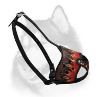 Awesome Design Leather Siberian Husky Muzzle