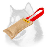 Siberian Husky Jute Puppy Bite Tug with Handle