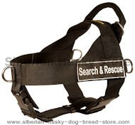 Search & Rescue Nylon Harness for Siberian Husky
