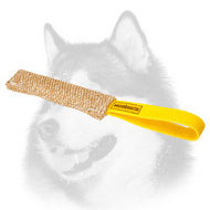 Small Jute Siberian Husky Bite Tag for Puppy