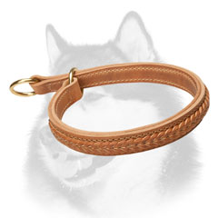 Fashion Husky collar with braided decoration