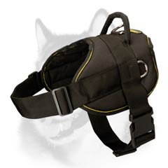 Nylon pulling dog harness for Siberian Husky breed