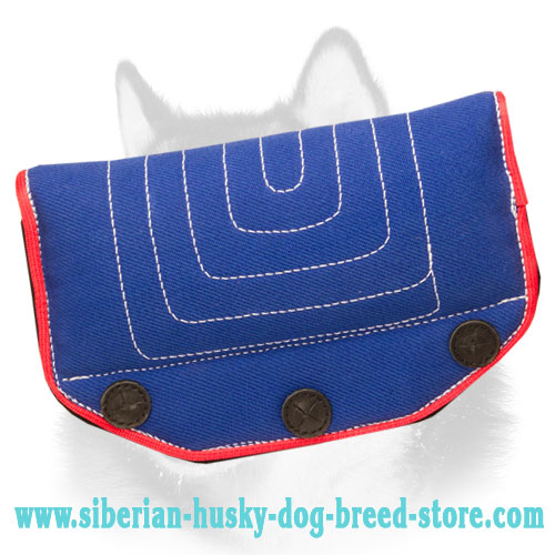 Comfy French Linen Siberian Husky Bite Builder for Professional Training