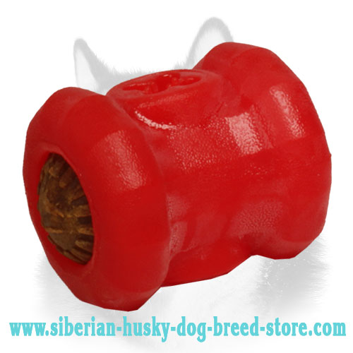 'Tasty Bobbin' Dog Chew Toy for Siberian Husky - Medium
