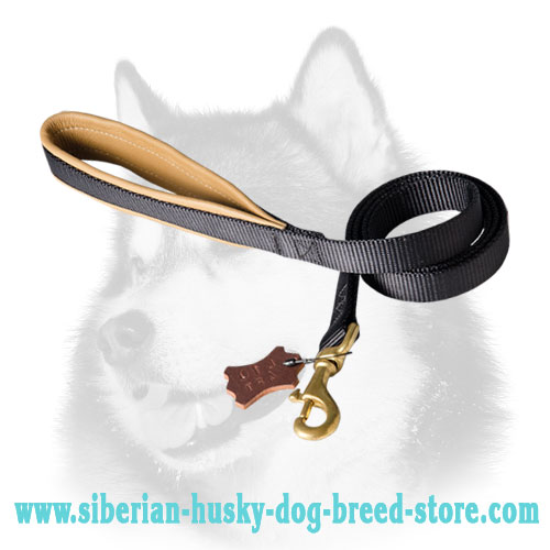 Nylon dog leash for Siberian Husky