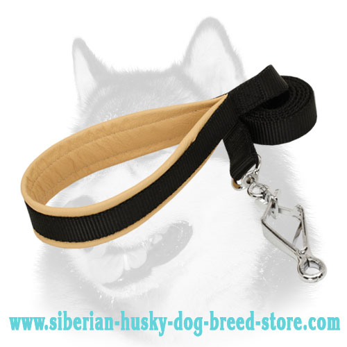 Anti-rubbing padded nylon Siberian Husky leash