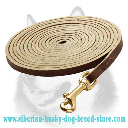 Siberian Husky leather dog leash extra long