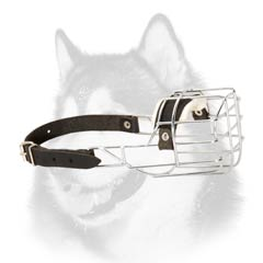 Adjustable comfortable metal Husky muzzle