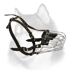 Adjustable wire cage Husky muzzle