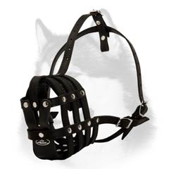 Extremely comfortable leather muzzle