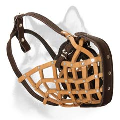 Leather net Husky muzzle