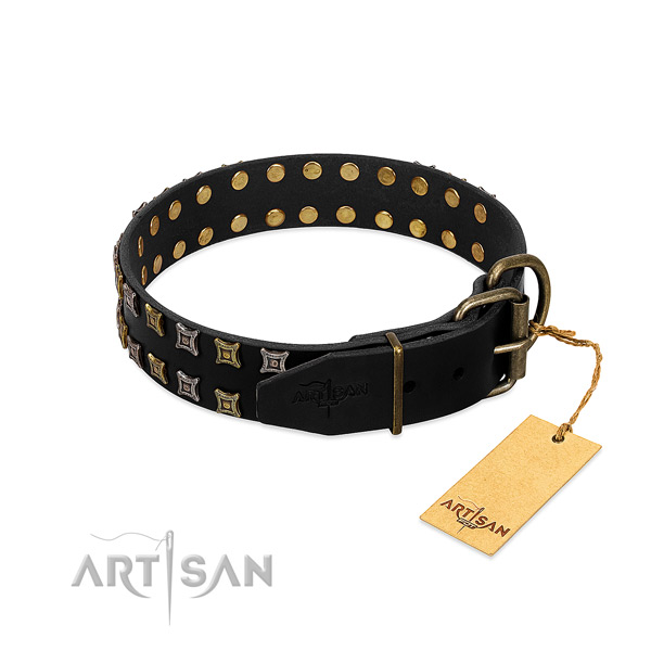 High quality genuine leather dog collar crafted for your canine
