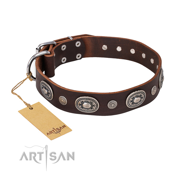 Best quality genuine leather collar handmade for your dog