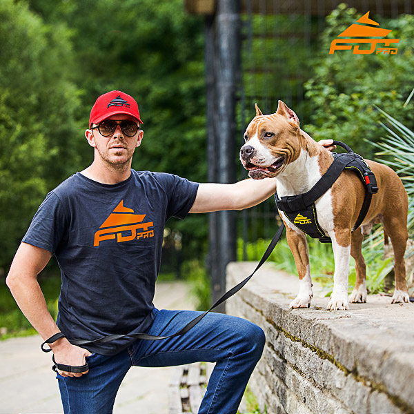 Men T-shirt of Best Quality Cotton with FDT Professional Logo for Dog Training