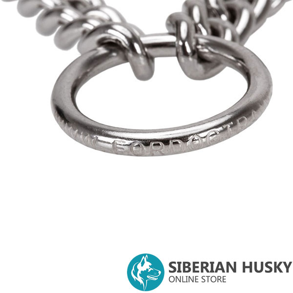 Dependable prong collar with stainless steel O-ring