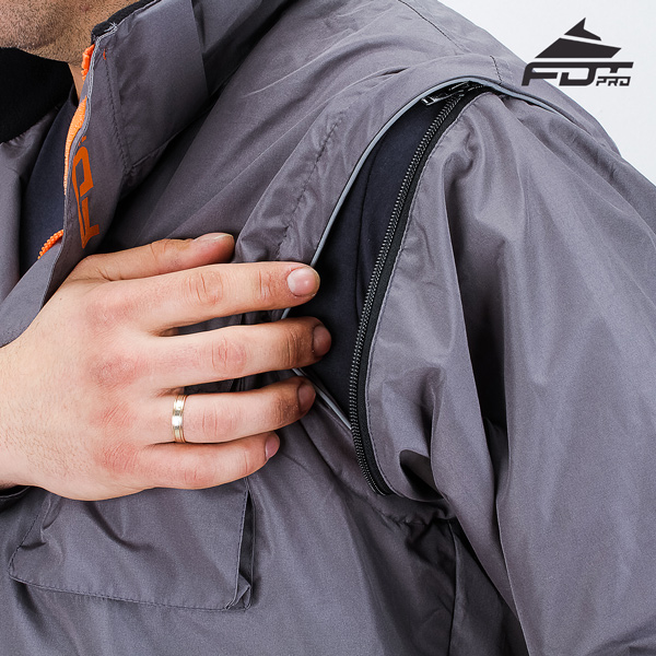 Reliable Zipper on Sleeve for FDT Pro Design Dog Tracking Jacket