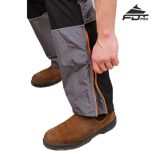 Durable Zippers on FDT Professional Pants for Dog Trainers