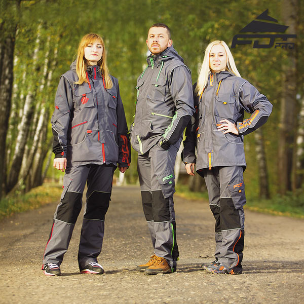 Strong Dog Trainer Suit for Tracking with Reflective Strap