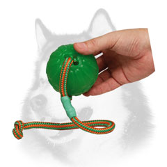 Rubber chew dog ball for Siberian Husky