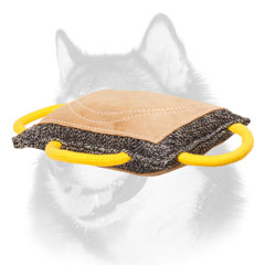 Advanced dog bite pad for Siberian Husky with handles