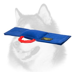 Dog bite pad for Siberian Husky with handle
