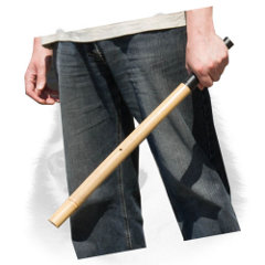 Dog training bamboo stick with comfy handle