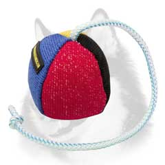 Durable French Linen Siberian Husky bite ball