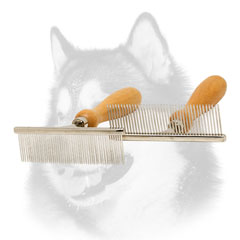 Chrome plated Siberian Husky comb